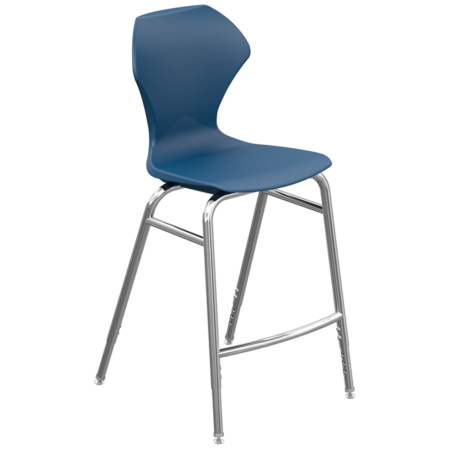 Apex Chair Navy-Chrome-Tall Final